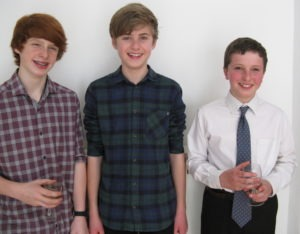 Sam, Euan and Michael after their Confirmation