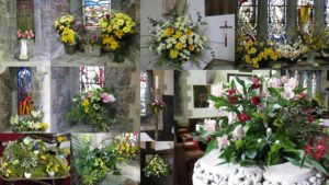 The Church was beautifully decorated for Easter - click on image for larger view.