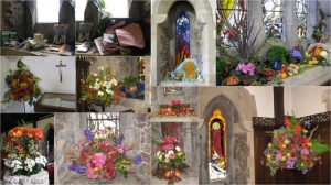 St Ninian's Church was beautifully decorated for Harvest Thanksgiving, including a window displaying a Mary's Meals backpack and its contents, a charity which the Sunday School will be supporting again this year. (Click on image for larger view)