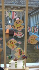 Some of the fishes made by the children on the day