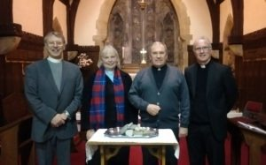 Revd Dr John Lochrie, Revd Sally Russell, Revd Canon David Bayne and Father William McFadden