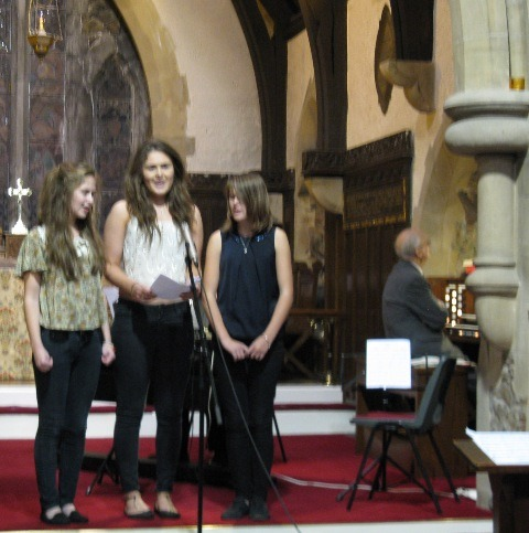 "The Girls - Katie, Beth and Ellie, singing ""Thank You for the Music"" by Abba"